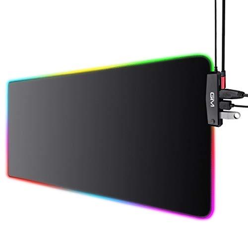 ICETEK Alfombrilla para ratón RGB para Juegos