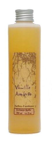 Provence et Nature: Recharge pour Diffuseur de Parfum avec Tiges - Parfum: Vanille Ambrée, 200 ml