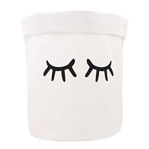 Aufbewahrungskorb,YULAND Wasserdichte humorvolle Leinwand Bettwäsche Wäsche Kleidung Wäschekorb Ablagekorb Falten Aufbewahrungsbox Lagerfässer (C) - Leinwand Wäsche