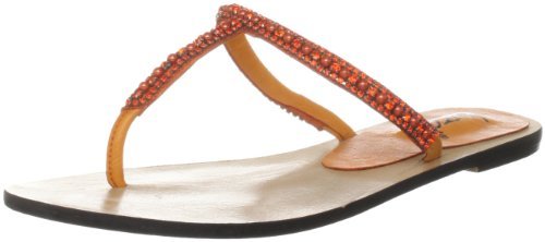 Unze Evening Slippers, Sandali infradito donna Arancione (Orange (L18342W))