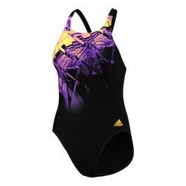 adidas Mädchen INF + XTR-Badeanzug - Schwarz/Solar Gold Größe 24 (Mädchen Badeanzug Größe 24)