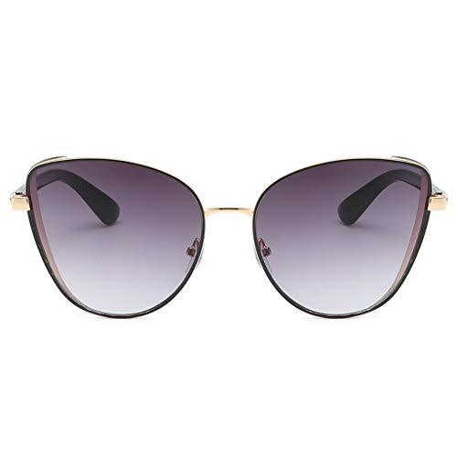 fazry Herren Damen Einfach Mode Jahrgang Katzenauge Brille Brillen Sonnenbrille (Grau)
