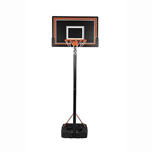 Swager Panier de Basket Ball sur Pied, Hauteur réglable (5 Niveaux réglables), avec roulettes - Choix Entre 2 modèles (2 Tailles différentes) (2,3m à 3,05m)