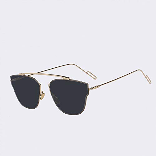 GAOHAITAO Randlose Metallrahmen Frau Brille Sonne Vintage Damenmode Sonnenbrillen Luxusmarke Designer Pink Flash Lens,A2