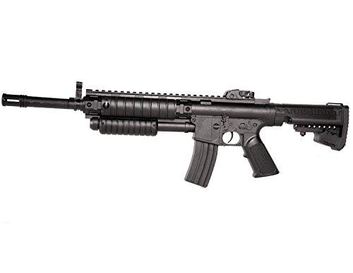 Softair-Gewehr Sturmgewehr Shotgun Funktion Federdruck Inkl. Magazin u. Munition 6 mm schwarz Soft-Air Airsoft-Waffe unter 0,5 Joule ab 14 Jahre 57cm 1,1kg