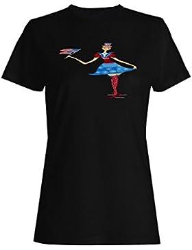 Día de la independencia de los eeuu divertida del vintage camiseta de las mujeres ww27f