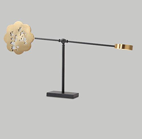 LSLMCS SHOPS Tischleuchte Persönlichkeit Pflaumenblüte LED Tischlampe Schlafzimmer Nachttischlampe Nordic Wohnzimmer Dekoration Schreibtischlampe Modernen Minimalistischen Quadratischen Stoff Schatten - Seide Schatten Tischleuchte