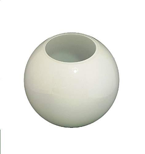 17.5cm diamètre Verre Blanc Sphériques Abat-jour avec aucun Collier. Circonférence: 55cm, Trou: 8.5cm dia. [éclairage lumière ballon rond sphère remplacement lustre globe]