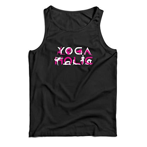 lepni.me Weste Yoga Holic, Positive Vibrationen, motivierende Workout-Zitate, Yogi-Liebhaber-Geschenk (XX-Large Schwarz Mehrfarben) (Halloween-filme Der Top Besten 20)