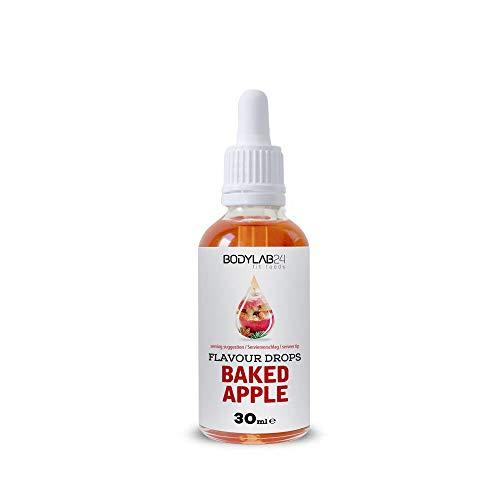 Bodylab24 Flavour Drops | 50g | Baked Apple | Leckere, kalorienfreie Aromen für deinen Eiweißshake, Smoothie, Joghurt, Quark oder zum Backen