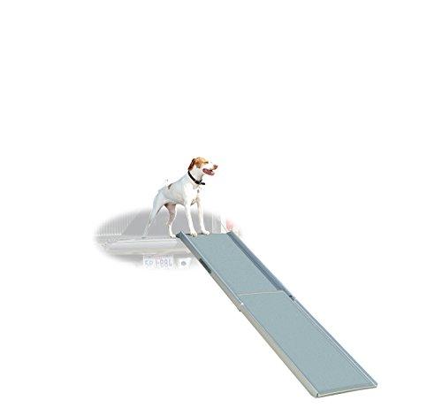 Artikelbild: PetSafe Solvit Deluxe Teleskop Aluminium Hunderampe XL, Anti- Rutsch Autorampe, für Hunde und Katzen