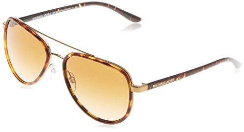 Michael Kors Unisex MK5006 Playa Norte Sonnenbrille, Braun (Havana/Gold 10342L), One size (Herstellergröße: 57)