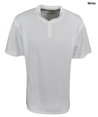 Mizuno Herren 2Farbe Block Short Sleeve Baseball Jersey Small weiß