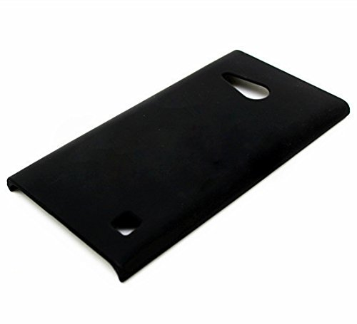 WOW Imagine Matte Rubberised Matte Hard Case Back Cover For Nokia Lumia 730 (Pitch Black)  available at amazon for Rs.189
