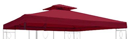 habeig Ersatzdach 310g/m² Wasserdicht, circa 3 x 3 m, Pavillondach Wasserfest, bordeaux, 298 x 298...