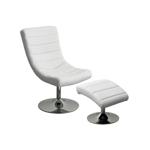 Premier-Housewares-Sedia-girevole-e-poggiapiedi-con-base-cromata-effetto-pelle-110-x-84-x-83-cm-colore-nero