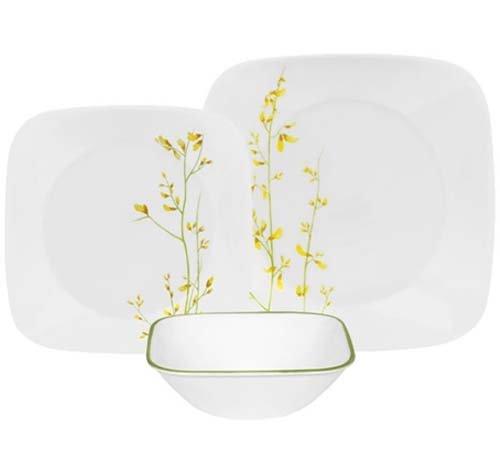 corelle-service-18-pieces-en-verre-vitrelle-resistant-motif-kobe-de-table-pour-6-jaune-vert
