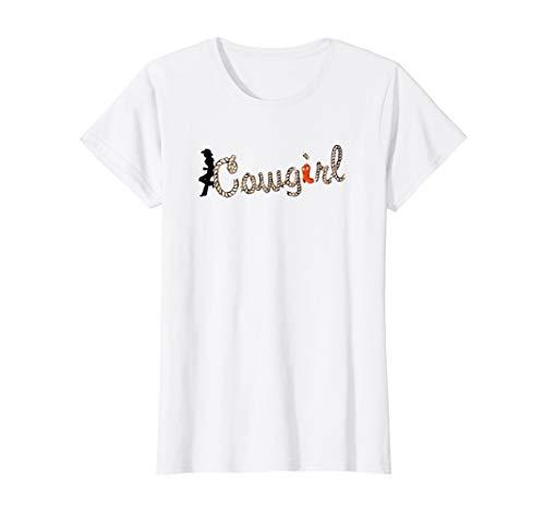 Damen Cowgirl Kostüm Damen Alternative zum Cowboy Outfit T-Shirt