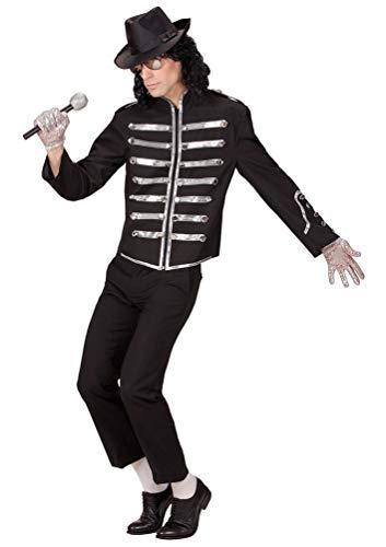 Karneval-Klamotten Michael Jackson Herren Kostüm Jacke Sänger Popstar Herrenkostüm Größe 48 (80er Jahre Halloween Kostüme Für Kinder)