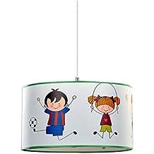 Kinder Spiel Zimmer Jugend Leuchte Lampe rund mehrfarbig Glas Decken Beleuchtung