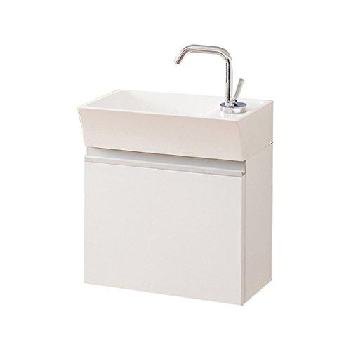 Waschplatzset Faros 40, Waschbecken und Unterschrank, weiß glänzend