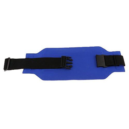 MagiDeal Outdoor Sacchetto Sacche Esterno Sport Marsupio da Escursionismo Corsa Cintura Bum Vita Bag - Rosso Blu marino