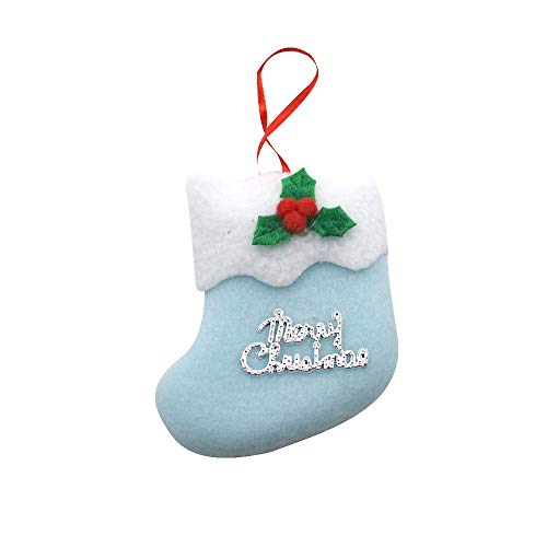 BESSKY Christmas Stocking Mini Sock Santa Claus Candy Gift Bag Xmas Tree Hanging Decor Weihnachtssocke Anhänger -