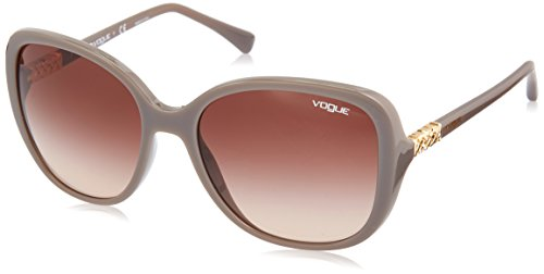 Vogue 0vo5154sb 259613 56, occhiali da sole donna, marrone (turtledove/browngradient)