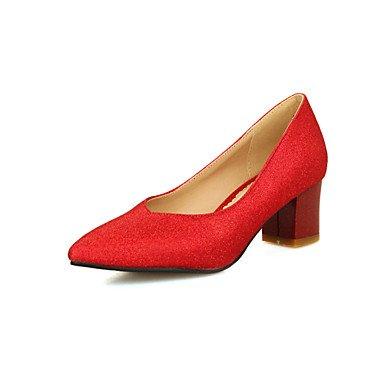 CH&TOU Da donna-Tacchi-Ufficio e lavoro Formale Casual-Comoda-Quadrato-PU (Poliuretano)-Blu Rosa Rosso Argento Dorato blue