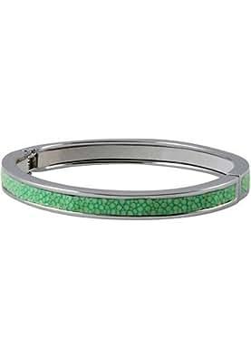 Turquoise Bracelet (sanded Stingray Skin) Width: 7 Mm Diameter: 60 - Genuine Stingray Skin Leather