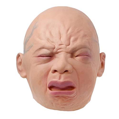 Ziel Kostüm Baby - gedeihen Halloween Kostüm Latex Maske, Baby Weinen Gesicht, Erwachsene Vollkopfmaske für Cosplay, Halloween, Party und Karneval