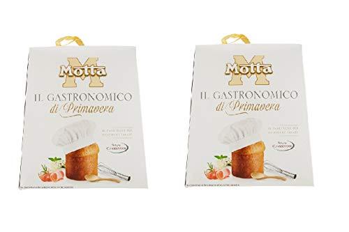 Motta offerta 2 panettoni gastronomici primavera base per antipasti 2x700 gr