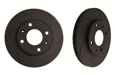 DISCS BLACK DIAMOND RAYURES 6 MITSUBISHI 3000GT (GTO) 3.0 V6 TWIN TURBO (Z16A)(296MM DISC) 8I92-99 AVANT