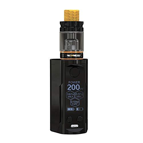 Original Nikotin (Wismec Reuleaux RX GEN3 Dual mit GNOME King Kit Vape Akku 230W E zigarette Versenkbare Top Fill mit 5.8 ml(100% Original)/Ohne Nikotin Ohne Tabak (Gloss Black))