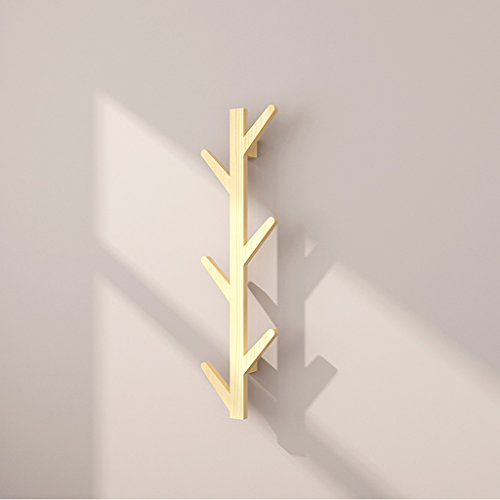 Wall Hanging Coat Rack (Kleiderablage SKC Lighting Wände Solid Wooden Coat Racks Walls Wallpapers Einfache Hanger Schlafzimmer Wohnzimmer Walls Hanging Coat Racks (Farbe : Holzfarbe))