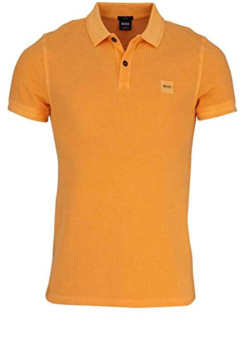 BOSS Herren Poloshirt Prime Slim Fit Kurzarm orange (33) M