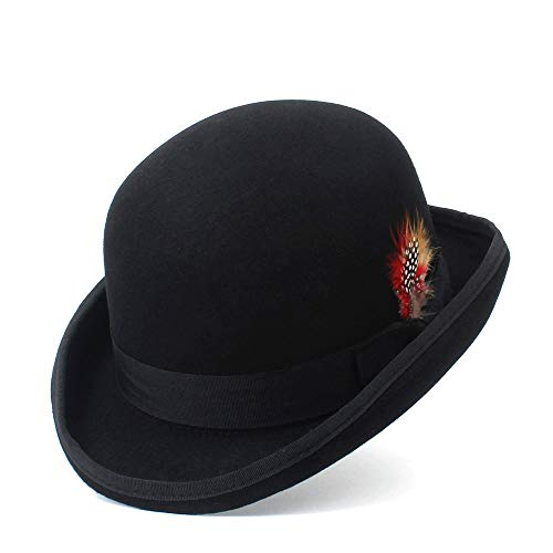 82ebe2004f621 CHENJUAN De Moda de Invierno de Lana Fedora Bowler Hat Trilby Sombreros  para Hombres 100%