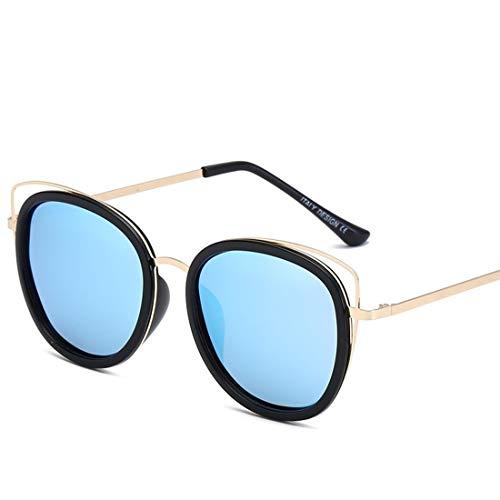 Ofliery Katze Ohr runde Sonnenbrille für männer Frauen Frauen Sonnenbrille uv-Schutz übergroßen Sonnenbrille Fall (Color : A)