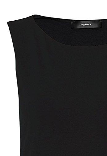 HALLHUBER Baumwolltop mit U-Boot-Ausschnitt tailliert geschnitten Schwarz