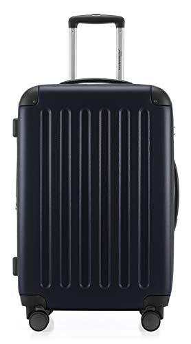 HAUPTSTADTKOFFER - Spree - Hartschalen-Koffer Koffer Trolley Rollkoffer Reisekoffer Erweiterbar, TSA, 4 Rollen, 65 cm, 74 Liter, Dunkelblau