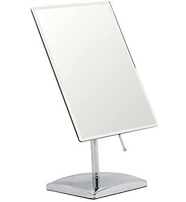 Mirrorvana Non- Magnifying Vanity Makeup Mirror, Perfect Modern & Elegant Frameless Design for Bedroom or Bathroom, Large 9.8 x 7 Rectangular Glass Surface by Mirrorvana - low-cost UK light shop.