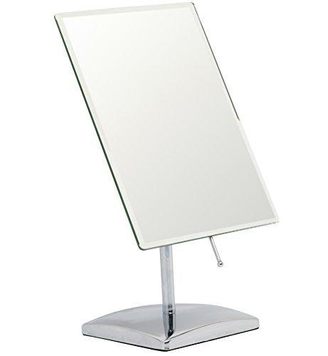 Espejo de maquillaje Mirrorvana sin aumento para tocador, superficie de cristal rectangular de 9,8 pulgadas...