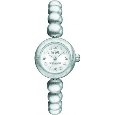 Coach 14502338 Ladies Waverly Silver Steel Bracelet Watch