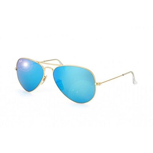 Ray Ban Pilotenbrille Aviator 3025 112/17 Gold mit blauen Gläsern