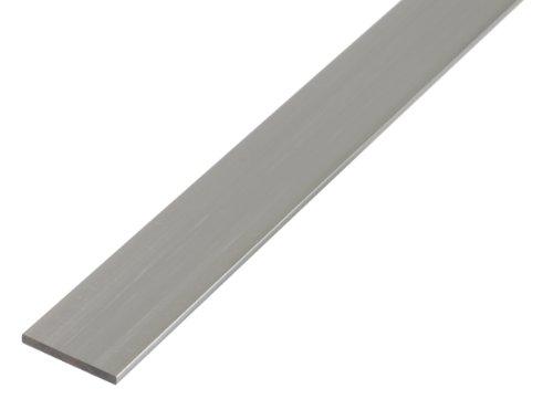 GAH-Alberts 473051 Flachstange - Aluminium, silberfarbig eloxiert, 1000 x 40 x 3 mm