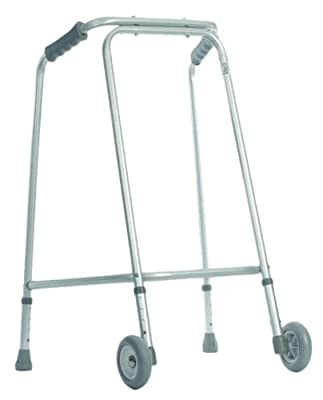 Aidapt Lightweight Walking Frame with Wheels for Home Use Small (Eligible for VAT relief in the UK)