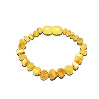 Child Ambrosia Polished Butterscotch Baltic Amber Anklet Love Amber x UK