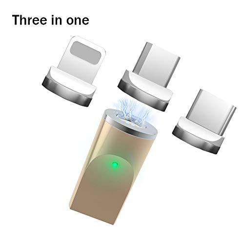 Noodus Magnetischer Adapter rund - für den magnetischen Tres-in-One Adapter für Apple Android Handy Typ-c -