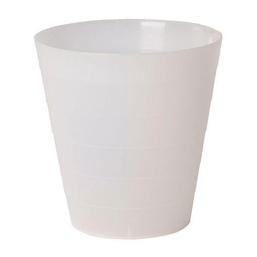 Ikea Fniss - Cestino per la carta in polipropilene bianco, diametro 29 cm, altezza 30 cm, capacità 14 litri, Polipropilene, trasparente, diametro: 29 cm, altezza: 30 cm, capienza: 14 l