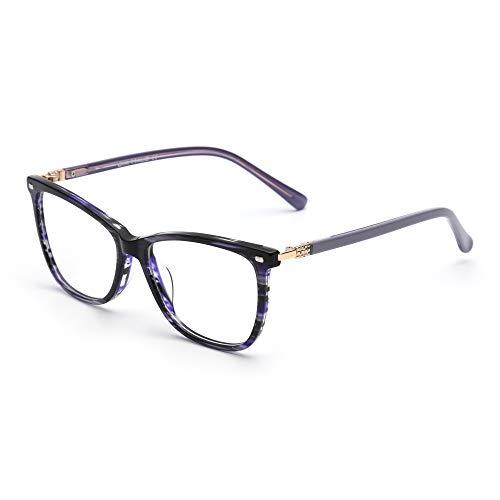 JIM HALO Platz Nicht Verschreibung Brillen Klar Linsen Gläser Damen Herren Blau (Frisuren Nerd Kostüm)